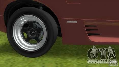 Lamborghini Diablo VTTT Black Revel for GTA Vice City side view