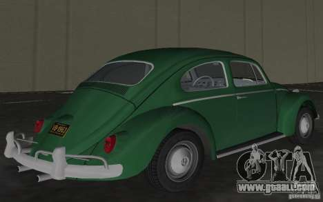 Volkswagen Beetle 1963 for GTA Vice City side view