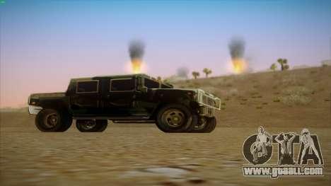HD Patriot for GTA San Andreas right view