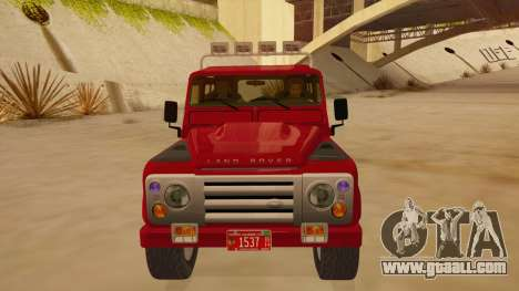 Land Rover Defender for GTA San Andreas inner view