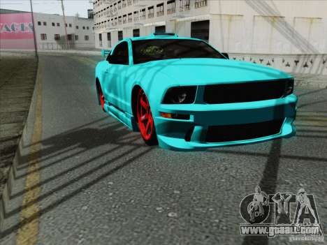 Ford Mustang GT Lowlife for GTA San Andreas inner view