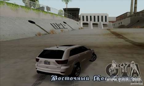 Jeep Grand Cherokee SRT-8 2013 for GTA San Andreas right view