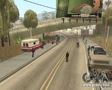 Scene of the crime (Crime scene) for GTA San Andreas second screenshot
