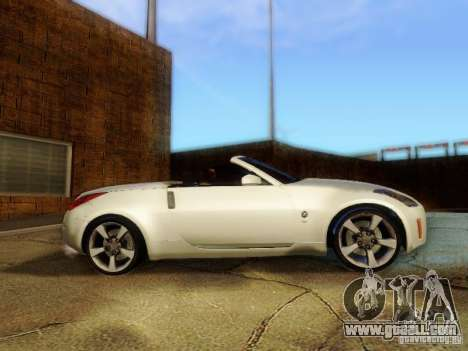 Nissan 350Z Cabrio for GTA San Andreas back left view