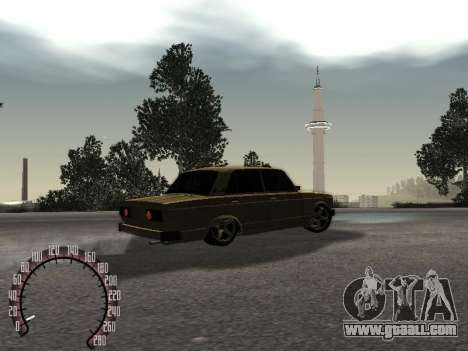 VAZ 2105 Gold for GTA San Andreas back left view