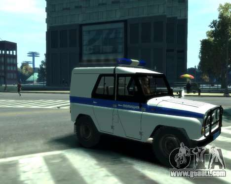 UAZ 31512 Police for GTA 4 back left view