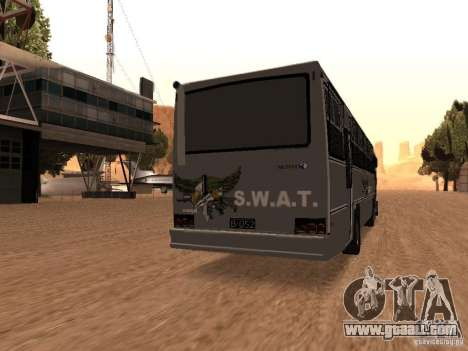 Mercedes Benz SWAT Bus for GTA San Andreas back left view