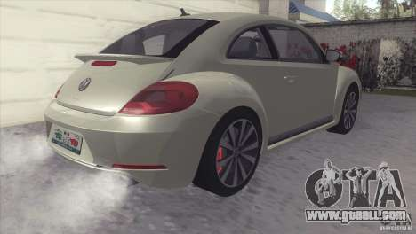 Volkswagen Beetle Turbo 2012 for GTA San Andreas back left view