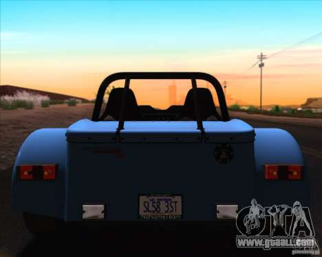 Caterham Superlight R500 for GTA San Andreas interior