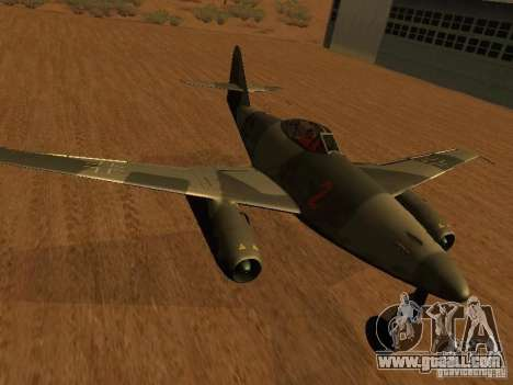 Messerschmitt Me262 for GTA San Andreas