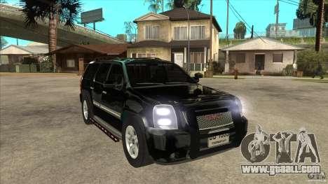 GMC Yukon Unmarked FBI for GTA San Andreas back view