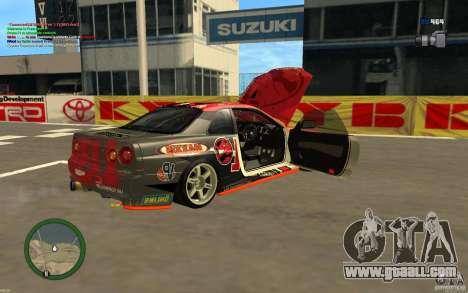 Nissan Skyline R34 Hell Energy for GTA San Andreas back left view
