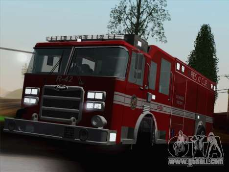 Pierce Contender LAFD Rescue 42 for GTA San Andreas engine