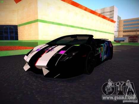 Lamborghini Gallardo LP570-4 Spyder Performante for GTA San Andreas side view