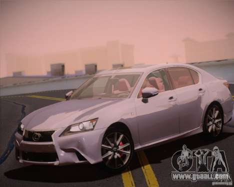 Lexus GS 350 F Sport Series IV for GTA San Andreas