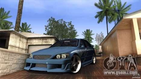 Lexus IS 300 Veilside for GTA San Andreas left view