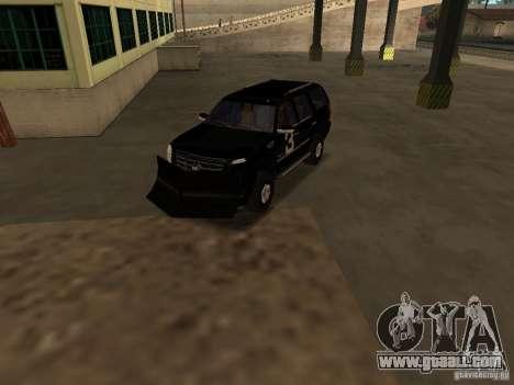 Cadillac Escalade Tallahassee for GTA San Andreas inner view