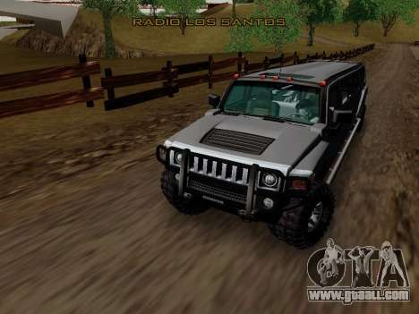Hummer H3 Limousine for GTA San Andreas inner view