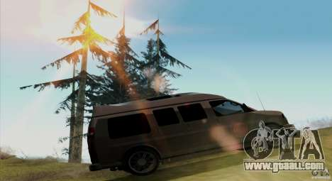 GMC Savana AWD for GTA San Andreas back view