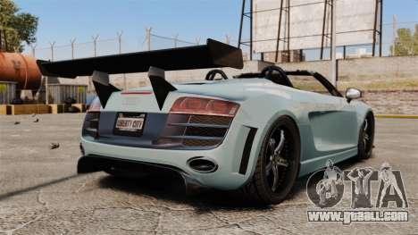 Audi R8 Spider Body Kit for GTA 4 back left view