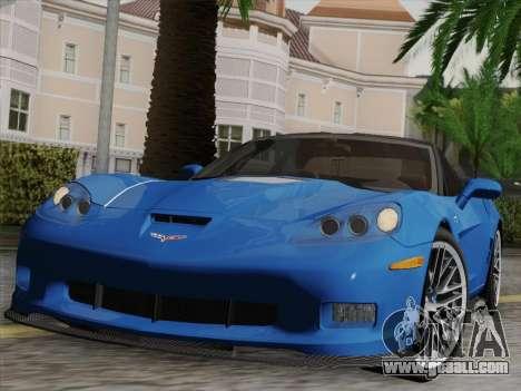 Chevrolet Corvette ZR1 for GTA San Andreas engine