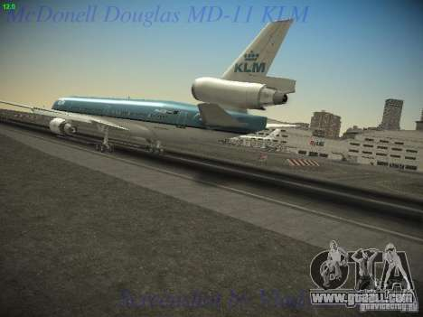 McDonnell Douglas MD-11 KLM Royal Dutch Airlines for GTA San Andreas left view