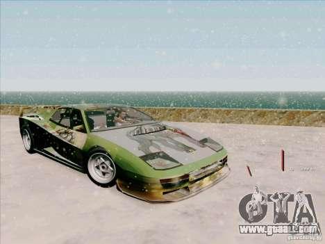 Ferrari Testarossa Custom for GTA San Andreas side view