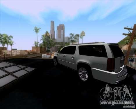 Cadillac Escalade ESV Platinum 2013 for GTA San Andreas back left view