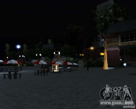Modern beach in Los-Santos for GTA San Andreas fifth screenshot