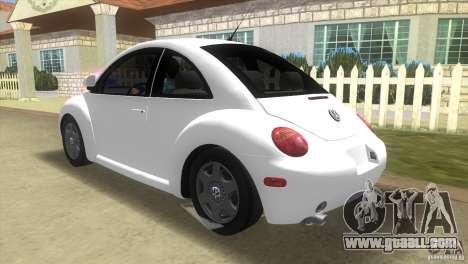 VW New Beetle for GTA Vice City back left view