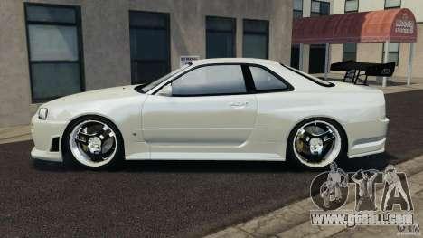 Nissan Skyline GT-R R34 for GTA 4 left view