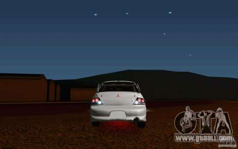 Mitsubishi Lancer Evo VIII GSR for GTA San Andreas back view