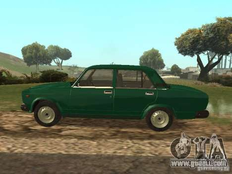 VAZ 2107 1988 for GTA San Andreas left view
