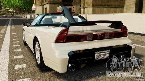 Honda NSX-R GT for GTA 4 back left view