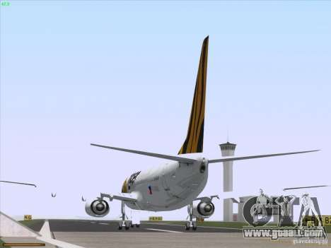 Boeing 737-800 Tiger Airways for GTA San Andreas back view