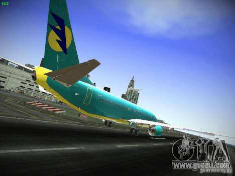 Boeing 737-84R AeroSvit Ukrainian Airlines for GTA San Andreas right view