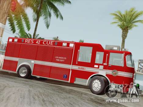 Pierce Contender LAFD Rescue 42 for GTA San Andreas wheels