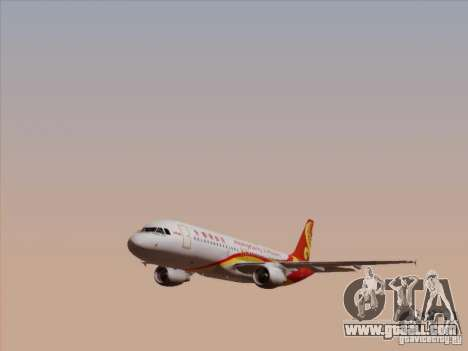 Airbus A320-214 Hong Kong Airlines for GTA San Andreas side view