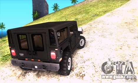 Hummer H1 for GTA San Andreas back view