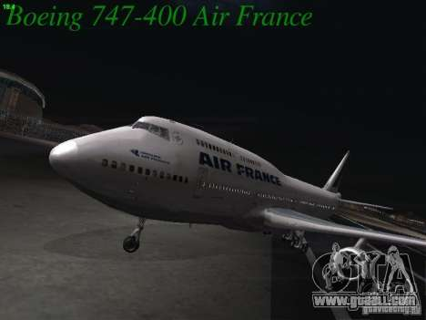 Boeing 747-400 Air France for GTA San Andreas left view