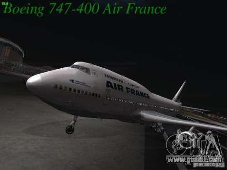 Boeing 747-400 Air France for GTA San Andreas
