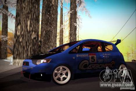 Mitsubishi Colt Rallyart Carbon 2010 for GTA San Andreas left view