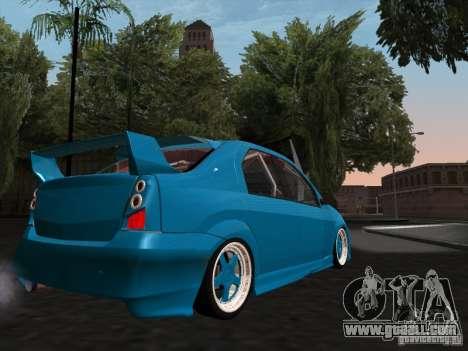 Renault Logan for GTA San Andreas inner view