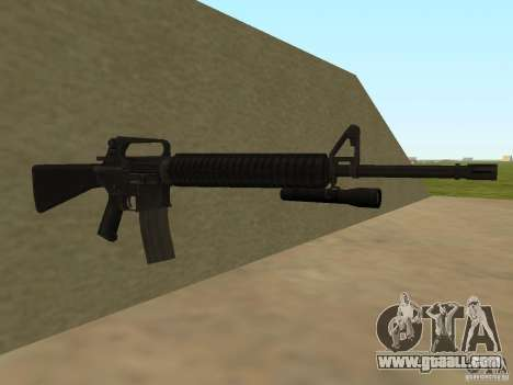 M4A1 from Left 4 Dead 2 for GTA San Andreas