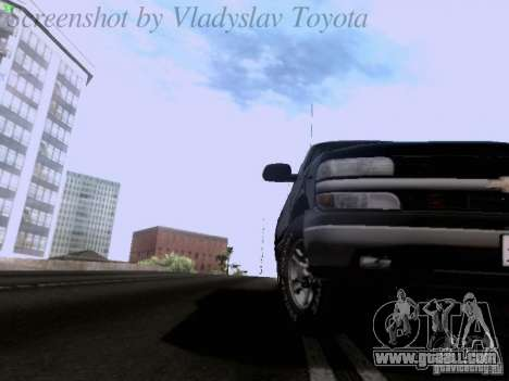 Chevrolet Tahoe 2003 SWAT for GTA San Andreas back view