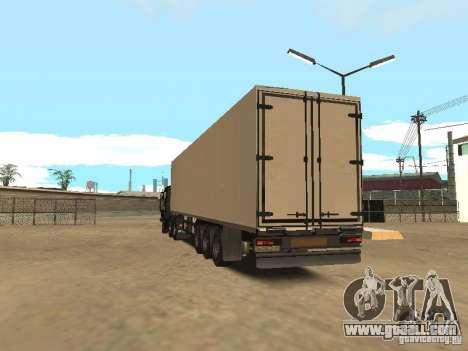 Nefaz 93344 trailer for GTA San Andreas back left view
