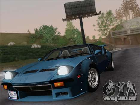 De Tomaso Pantera GT4 for GTA San Andreas right view