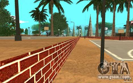New textures basketball court for GTA San Andreas forth screenshot