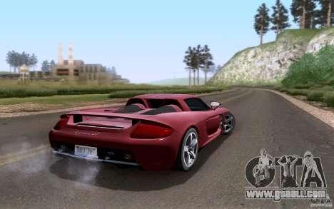 Porsche Carrera GT for GTA San Andreas back view
