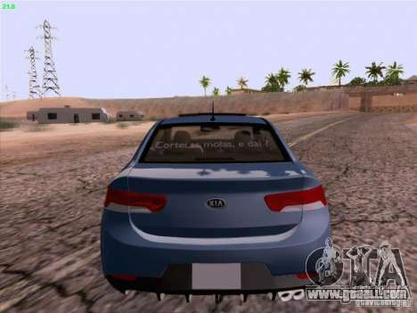 Kia Cerato Coupe 2011 for GTA San Andreas right view